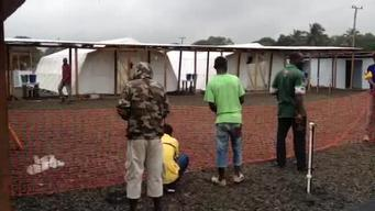 ELWA 3 Ebola Management Center in Monrovia, Liberia
