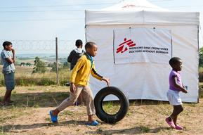 MSF Mobile HIV testing unit in KwaZulu Natal.
