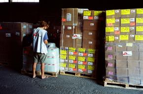 Lebanon , tons of first aid supplies, W. Martin, august 2006