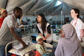 Dr Joanne Liu visits Maiduguri feeding centre - January 2017