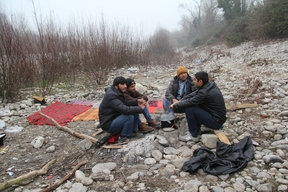 MSF Temporary Camp in Gorizia, Italy.