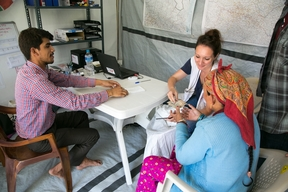 Tent hospital after the Earthquake in Nepal