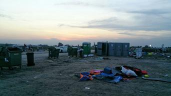 Empty refugee camp in Roszke, Hungary