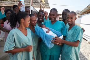 Baby Nubia Is Released From MSF Clinic in Conakry