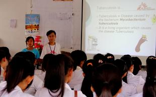 Kampong Cham province , TB education activities, Anastasia Danielian, march 2012