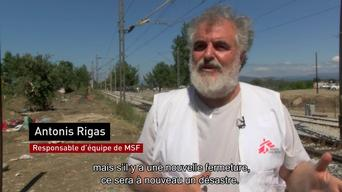 MSF sets up a transit camp in Idomeni FR