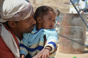 Displaced people in Khamer, Yemen