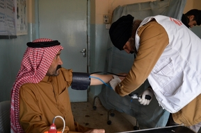 Mobile clinic in Borgulia, Tal Afar district, Iraq