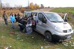 Refugees arriving in Serbia
