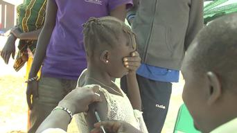 B-Roll - South Sudan refugees at Kenyan border