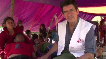 B-ROLL - Medical assistance provided by MSF in Nepal's Gorkha and Dhading districts (HD)