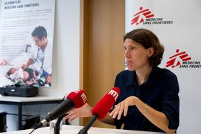Press conference of a nurse in MSF Luxembourg