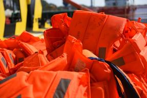 Life Jackets Aboard the Borbon Argus