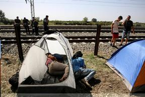 Refugees in Serbia - Croatia Border