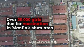 WEBCLIP: Philippines. 25,000 girls in Manila's slum areas due for their 2nd round of HPV vaccine (ENG)