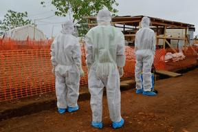 Ebola treatment facility in Kailahun, Sierra Leone