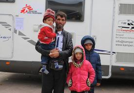 Afghan family in Serbia