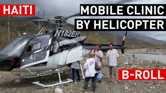 Mobile clinic by helicopter - MSF Intervention Hurricane Matthew in Haiti