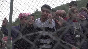 WEBCLIP: Saleh, young Syrian refugee held in detention centre on Samos, Greece (ARABIC)