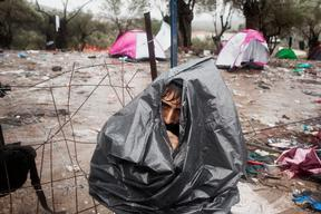 Moria Reception Centre in Lesbos, Greece