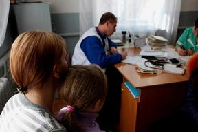 Mobile Clinic in Kuteynikovo, south-east of Donetsk