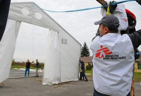 Assistance for refugees in Serbia