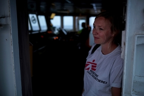 Portrait of Alva White Field Communications Manager, MV Aquarius