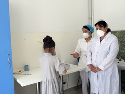 First patients on new TB treatment in Dushanbe.