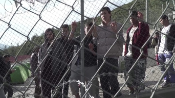 WEBCLIP: Ramin, young Aghan refugee held in detention centre on Samos, Greece (INT)