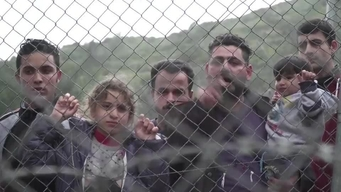 WEBCLIP: Walid, refugee from Iraq, held in detention centre on Samos, Greece (ARABIC)