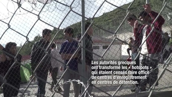 WEBCLIP: Angelique, MSF logistician, horrified by  detention of refugees on Samos, Greece (FR)