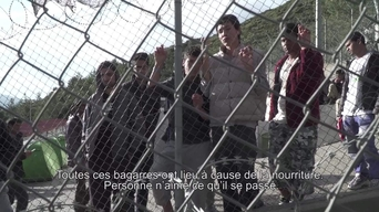 WEBCLIP: Ramin, young Aghan refugee held in detention centre on Samos, Greece (FR)