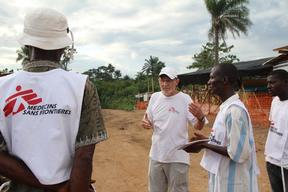 The team in Kailahun, Sierra Leone - September 2014