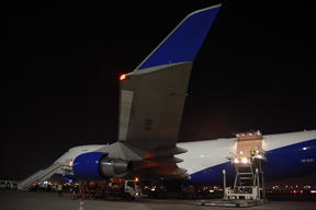 Cargo plane leaving from Dubaï