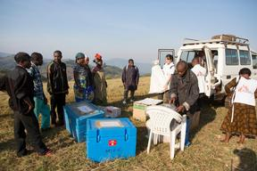 Measles Vaccination campaign in Kalonge, DRC