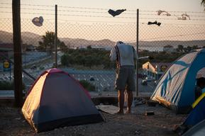 Kara Tepe Camp in Lesbos, Greece.