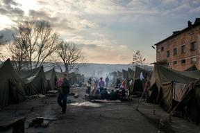 Bulgaria, Syrian refugees in the Harmanli Camp, Alessandro Penso, may 2014.