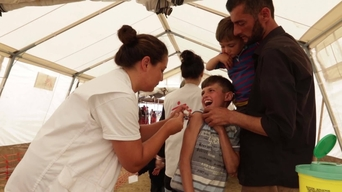 3031 vaccinations in Idomeni, Greece, because we care - English