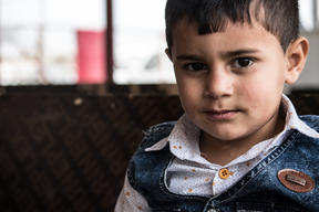 Muhammad, 3, was born at a MSF clinic in Iraq