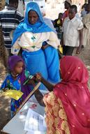 Measles vaccination campaign, Sila region, eastern Chad