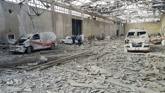 Destroyed Ambulances in East Ghouta, Syria