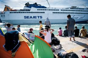 Evacuation Of Refugees From Lesbos, Greece
