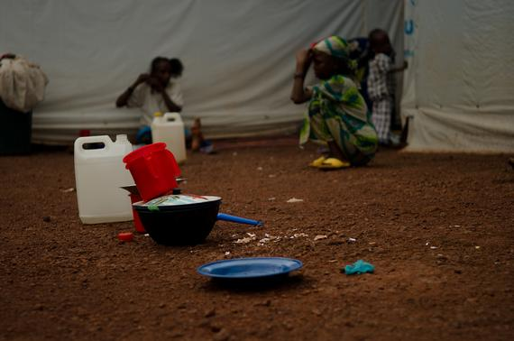 Mental health activities are provided in MSF ITFC both for children and families. Individual session are also organized for refugees who request them.  Photo: Natacha Buhler/MSF