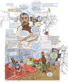 Graphic Testimony: Drawing Syrian Refugees by Olivier Kugler