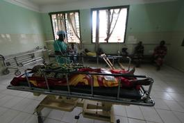 Bangui, hospital communautaire, emergency operation