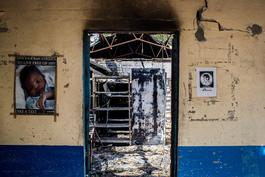 MSF hospital in Leer, South Sudan, destroyed