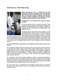 Staff interview - World Malaria Day
