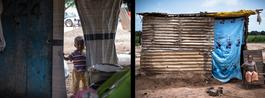 CAR, Bangui: mirror of Ghettos, Diptych, Yann Libessart / MSF, june 2014