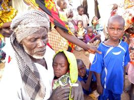 Chad, Refugee coming from Darfur in Tissi, MSF, march 2013.
