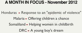 A Month in Focus - November 2012